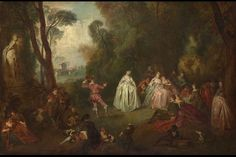 THE DANCE Parkland idylls of this sort populated by elegantly dressed figures were developed by Watteau and adopted by his pupil Pater. This is an 18th-century picture related to three compositions by Pater, although many of the figures are taken from works by Watteau.  Key facts  ArtistImitator of Jean-Baptiste Pater Artist dates1695 - 1736 Full titleThe Dance Date made18th century Medium and supportOil on canvas Dimensions74.9 x 114.9 cm Acquisition creditBequeathed by Edith Cragg as part…
