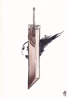 Buster Sword FFVII Drawing by NakashojiArt on Etsy