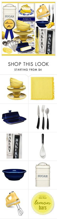 """""""Bakery * Lemon Pie"""" by calamity-jane-always ❤ liked on Polyvore featuring interior, interiors, interior design, home, home decor, interior decorating, Fiesta, Kitchen Craft, KitchenAid and homedecor"""