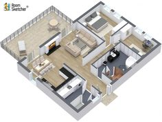 Try RoomSketcher Ready-Made 3D Floor Plans for Real Estate and leave the drawing to us! www.roomsketcher.com/floorplans-en001/ #propertyoftheweek #floorplan #brokers #realestatemarketing