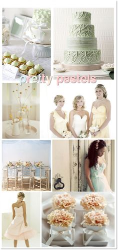 barely there pastel wedding colors