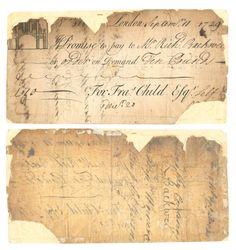 £10 banknote, London, 1729 (CIB.8158)
