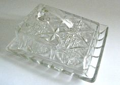 English Vintage 1930-1950s Glass Cheese Dish  £7.00 ($11)
