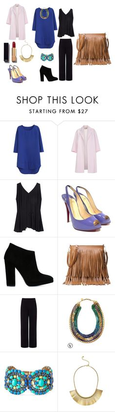 """""""morpho-silhouette"""" by harmonie-conseillere-en-image on Polyvore featuring beauté, WithChic, Paul Smith, The Row, Christian Louboutin, Giuseppe Zanotti, Pink Tartan, Stella & Dot, Chanel et silhouette"""