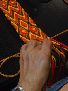 fajon Inkle Loom, Loom Weaving, Tapestry Bag, Tapestry Crochet, Macrame Bag, Micro Macrame, Macrame Patterns, Weaving Patterns, Finger Weaving