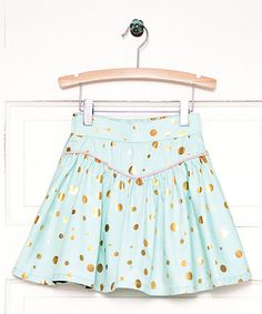 Another great find on #zulily! Blue Gilded Greens A-Line Skirt - Toddler & Girls #zulilyfinds