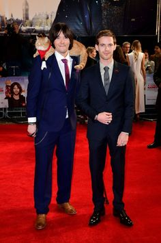James Bowen and Luke, who plays him in the film, posed with Bob on the red carpet