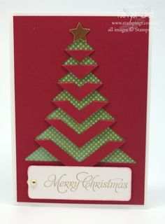 Stampin' Up! Stamping T! - Lace Folded Christmas Card - Linda Smik Stampin' Up! Stamping T! Homemade Christmas Cards, Christmas Cards To Make, Xmas Cards, Homemade Cards, Handmade Christmas, Christmas Crafts, Fancy Fold Cards, Folded Cards, Lace Christmas Tree
