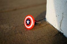 Adjustable Captain America Ring | Capt. America Shield