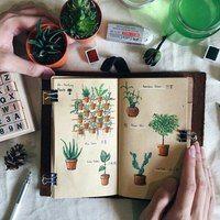 Как оформить свой личный дневник| ЛД | ВКонтакте Garden Journal, Nature Journal, Moleskine, Drawing Journal, Drawing Tips, Visual Diary, Journal Layout, Travel Scrapbook, Travelers Notebook