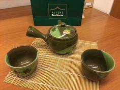 Teaset in tealeafgreen