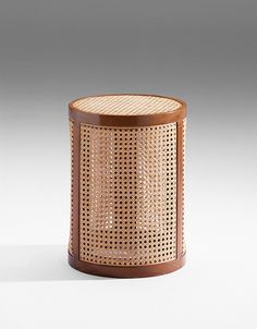 Atelier Pierre Charpin | La collection tropicale - stool - cane work exotic wood and laminated palstic