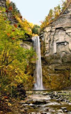 Taughannock Falls in the Finger Lakes region near Ithaca, N.Y