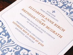 Rabe & Co / Wedding invitations for Liz and Brendan