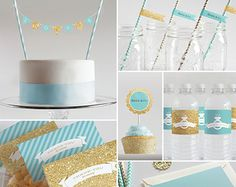 Bridal Shower Decorations // Printable // Mint by InklingsPaperie