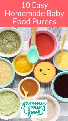 Baby Puree Recipes, Pureed Food Recipes, Fruit Recipes, Veggie Recipes, Toddler Food, Toddler Meals, Kids Meals, Baby Food Recipes Stage 1, Healthy Baby Food