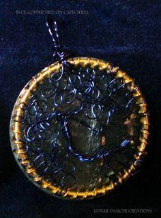 Blue copper tree pentant---intuitive communication