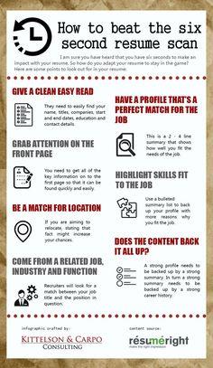How to beat the six second resume scan - Resume Template Ideas of Resume Template - How to beat the six second resume scan Resume Advice, Resume Writing Tips, Resume Help, Resume Skills, Job Resume, Writing Skills, How To Resume, College Resume, Job Interview Preparation