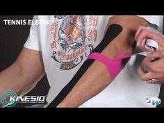 Kinesio Tape Instruction for tennis elbow, wrist pain and shoulder ...