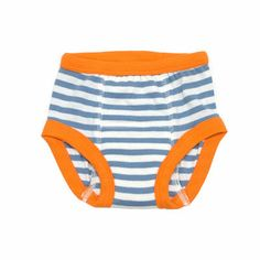 giggle Better Basics Striped Toddler Training Pants (Organic Cotton) - Blue/Orange | giggle