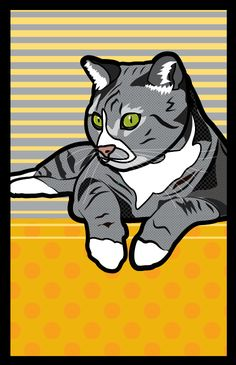 Pet POP ART illustrations by Marie. Vector/Scalable Retro