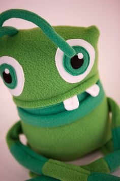 Maurice the Green Plush Monster our newest monster is now available in our etsy shop, check him out! http://www.etsy.com/shop/amonstertolove