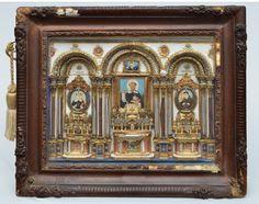 S/ ASSINATURA - Escola Italiana - Séc. XVIII/XIX - Altar de Igreja Barroco, assemblage.