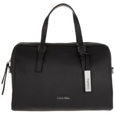 Calvin Klein Marissa Duffle Bag Black in black, Handle Bags (€140) ❤ liked on Polyvore featuring bags, handbags, shoulder bags, black, calvin klein, man bag, faux-leather handbags, shoulder strap bags and purse shoulder bag
