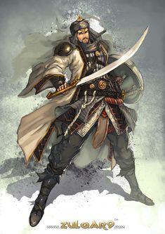 Zulqar9 : Tariq Al-Ziyad by bayanghitam.deviantart.com on @deviantART