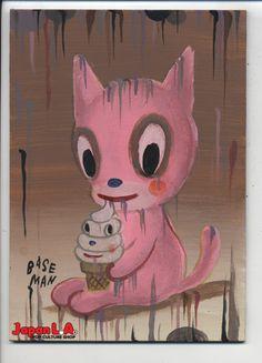 Eeeeee! Not quite kittens and pancakes but I'll take it!  Ice Cream and Kittens -Gary Baseman