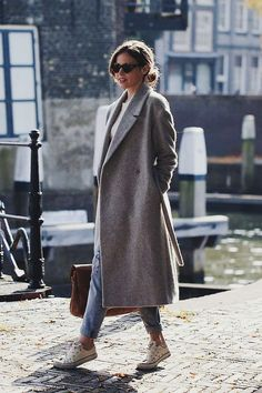 Long coat, denim & s