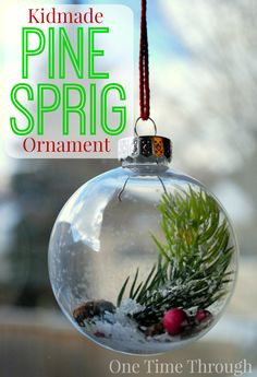 SIMPLE and classically PRETTY ornament for toddlers and preschoolers to make! {One Time Through}