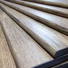 Image of wood plank tiles with wood look glazing on the bullnose edge