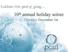 Save the date for THE pearl's biggest event of the year!🎉 . 🔸Thursday December 1st, 5:30-9:00pm🔸  Join us for our 10th annual Holiday Soiree!  Enjoy an evening of stress-free shopping, mini-treatments, winter delights and more.  For one night only: -20% off all boutique purchases. -10% off all gift card purchases  Win... Over $10,000 in gifts and prizes including: -Monthly manicure for a year. -Dynamic Duo Deluxe Package. -Blue Grotto for up to six. ✨And our grand prize.... ✨One elite…