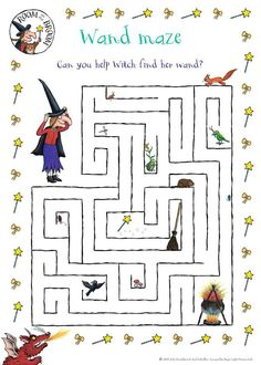 Room on a broom maze
