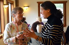 Each morning at Women At Woodstock begins with a buffet-style breakfast in the dining room, where we can linger over coffee & conversation until the first workshop begins.