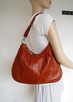 MAYA----leather bags Adeleshop hobo laptop messenger satchel shoulder cross body bag. $160.00, via Etsy.
