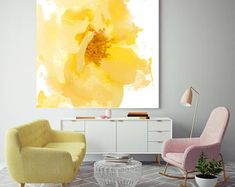 and bright. Floral Painting, Yellow White Floral Canvas, Abstract Colorful Contemporary Canvas Art Print up to by Irena Orlov Beautiful and bright. Floral Painting Yellow White FloralAbstract Abstract may refer to: Canvas Art Prints, Floral Wall Art, Art Painting, Floral Painting, Floral Art, Contemporary Art Canvas, Floral Prints Art, Abstract, Pink Abstract Art
