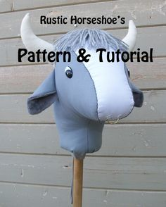 Rustic Horseshoe's Basic Classic Collection Stick Bull and Steer Pattern and Tutorial by RusticHorseShoe on Etsy
