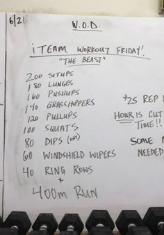 "CrossFit WOD ""The Be"