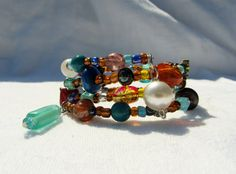 Bohemian Vintage and Recycled Jewelry Beaded by cloverandrubies, $12.50