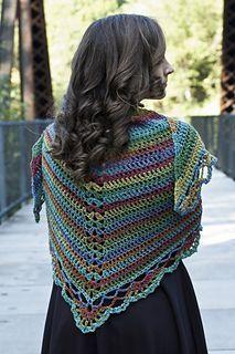 Tangier Wildflowers Shawl - free crochet pattern by Laura Krzak / Cascade Yarns Website. Aran weight.