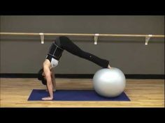 """http://www.blogilates.com Cassey Ho, POP Pilates Instructor, takes you through a pretty cool and very tough swiss ball exercise ball workout. Follow the guidelines below for buying an appropriate size ball for your home gym:    Under 5'2"""" (1.57m)...45cm ball  5'3""""- 5'8"""" (1.60m-1.72m)...55cm ball  5'9"""" - 6'2"""" (1.75m-1.88m)...65cm ball  Above 6'3""""..."""