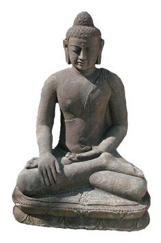 Indonesian Basalt Sculpture of Buddha