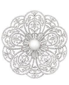 An intricate diamond brooch from the Chanel Joaillerie 'Secrets d'Orients' collection.