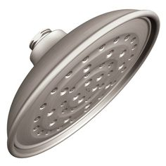 Moen Vitalize Spot Resist Brushed Nickel-Spray Rain Shower Head at Lowe's. For a relaxing, rainfall-like experience while showering, this Moen showerhead from the Vitalize collection is the perfect option. Its single spray Nickel Finish, Brushed Nickel, Shower Head Reviews, Steam Showers Bathroom, Bathrooms, Condo Bathroom, Master Bathroom, Habitat For Humanity, Bricks