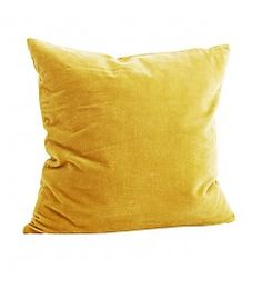 Kjøp Velvet Cushion Cover - Curry 50 x 50 cm fra Madam Stoltz hos Nordiske Hjem Yellow Couch, Yellow Throw Pillows, Yellow Cushions, Velvet Cushions, Couch Pillows, Bedroom Yellow, Fur Pillow, Bed Sofa, Accent Pillows