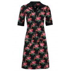 Tante Betsy Dress Sporty Roses Black