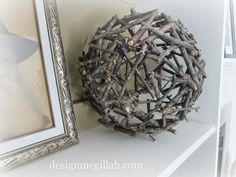 MAKING DECORATIVE BALL OF TWIGS ...