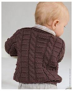 Free Baby Sweater Knitting Patterns, Knit Baby Sweaters, Knitted Baby Clothes, Knitting For Kids, Baby Patterns, Free Knitting, Models, Baby Vest, Vogue